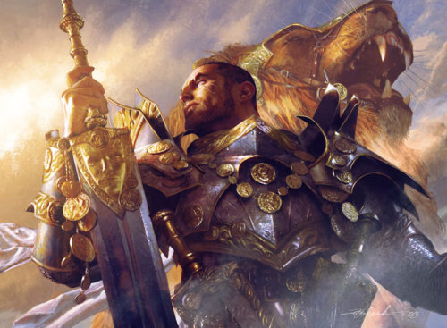 Stunning artwork by Michael Komarck for Magic: the Gathering My favorite artist when it comes to humans, knights & soldiers.
