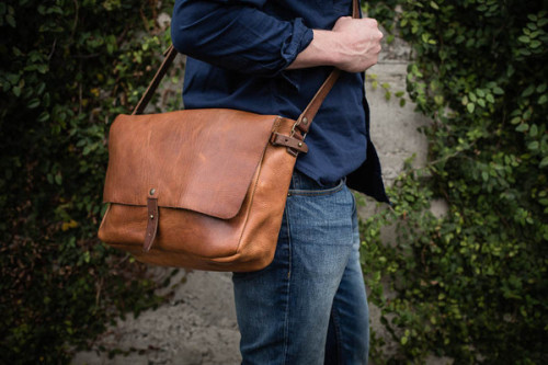 Whipping Post Vintage Leather Messenger