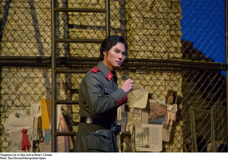 Yonghoon Lee as Don Jose in Bizet's Carmen at the Met