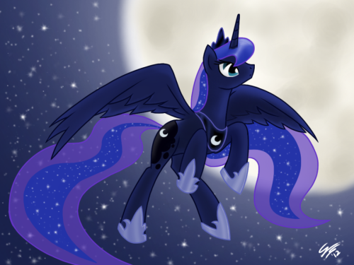 promisepegasus:  Rise with the Moon by ~GimmoGear