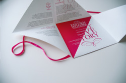 (via Wedding Invitation - Peter & Thessa on Behance)