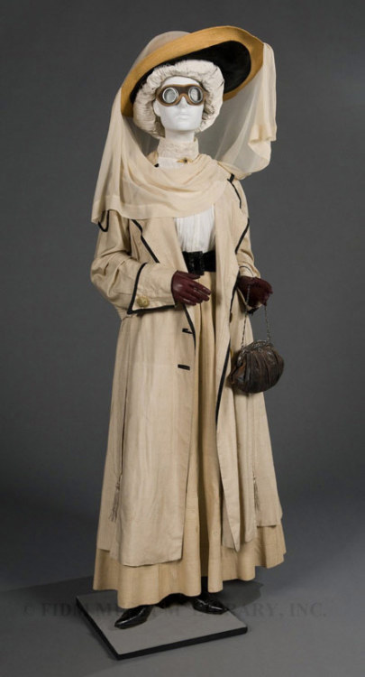 fringefashion:  Motoring Duster, c. 1910–1915 (FIDM)