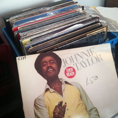 "sinatrameetsmarley:  At the end of the day, its just me & my vinyls..Johnnie Taylor ""Soul Fillet"""