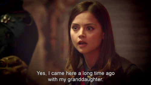 "docwhocaps:  ""Yes, I came here a long time ago with my granddaughter"" *INTERNAL PANIC FEST*"