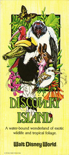 Walt Disney World Discovery Island Brochure-Front (1979) by scad92 on Flickr.