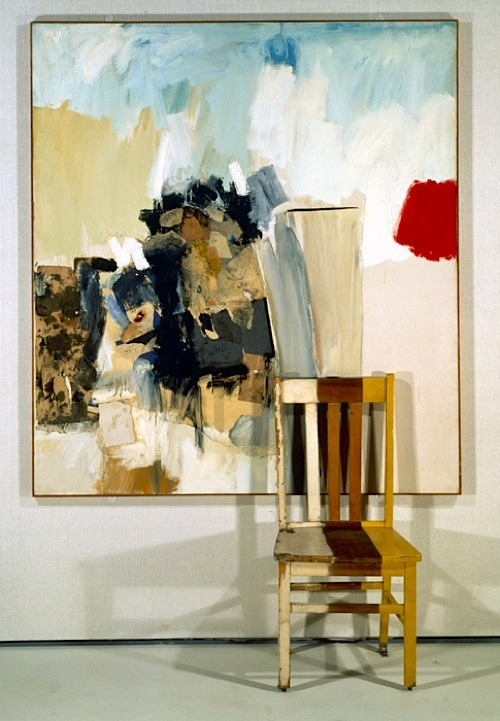 arpeggia:  Robert Rauschenberg - Pilgrim, 1950, mixed mediums with wooden chair
