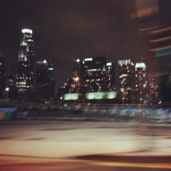 #DTLA #Night #Lights #Building #Blur #Driving #City