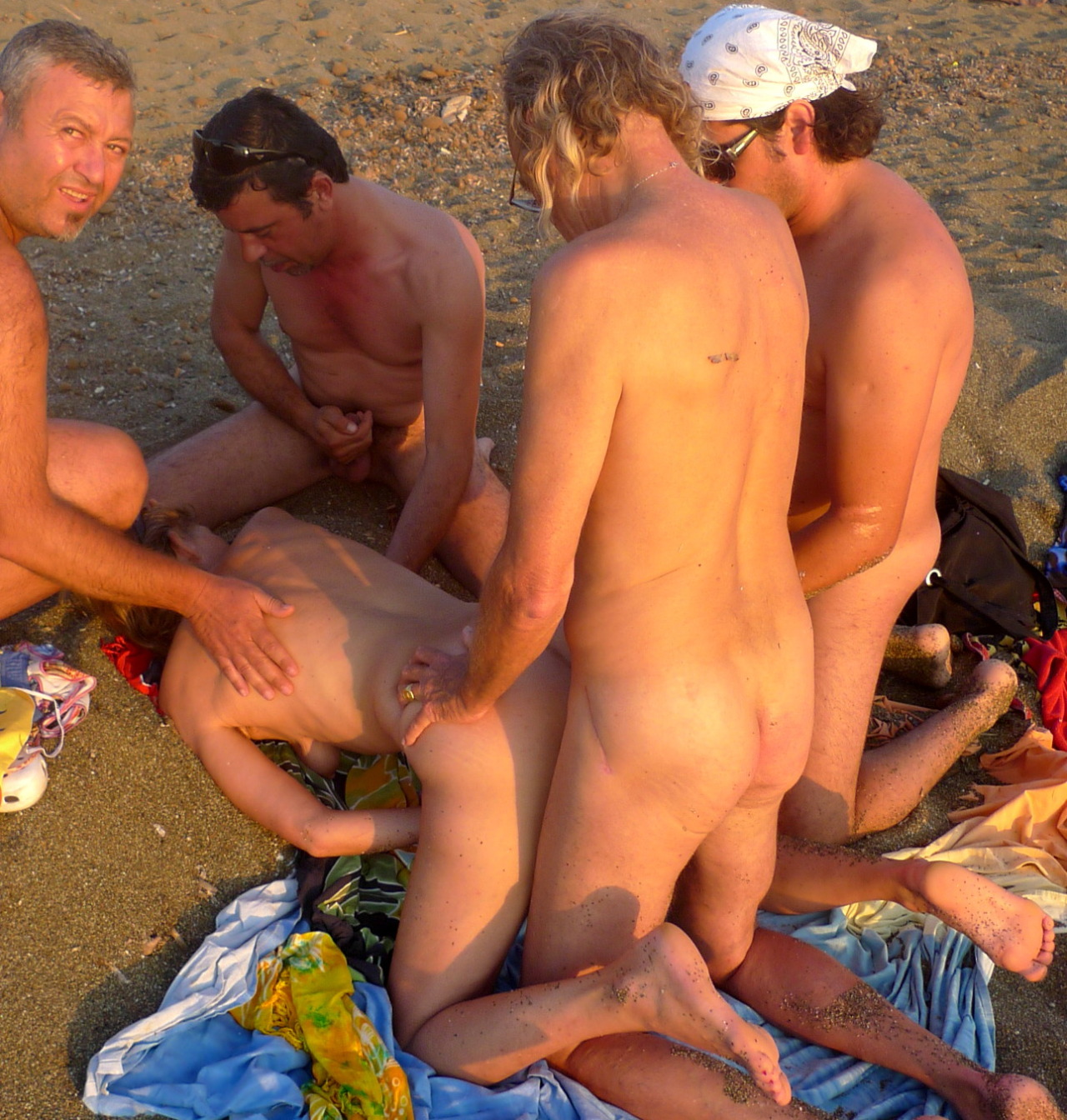 Naked on nude beach sex