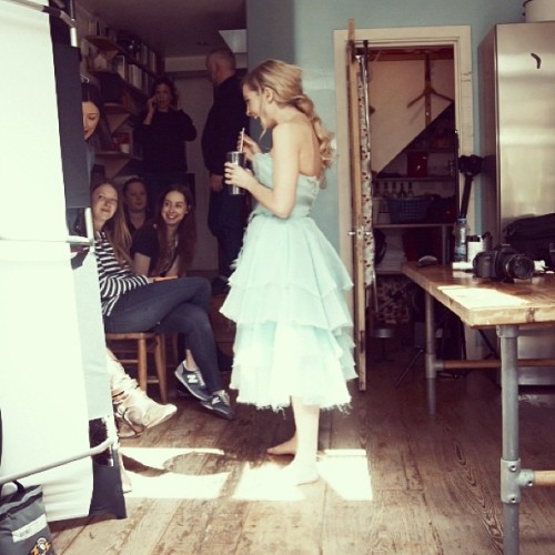 mattholyoak:  BTS with #downtonabbey star Joanne Froggatt.