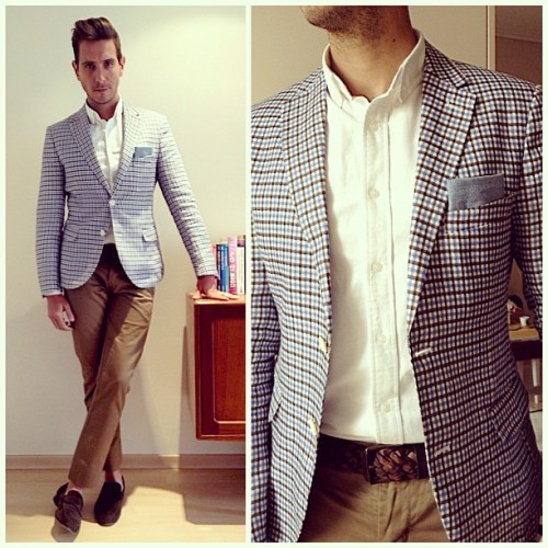 Brown and checks for Valentines Day.   Visit www.whatmyboyfriendwore.com for all outfits if the day.   #menswear #menstyle #mensfashion #ootd #wmbw