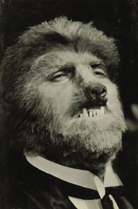 Unused test make-up for Werewolf of London (1935) by Jack Pierce.