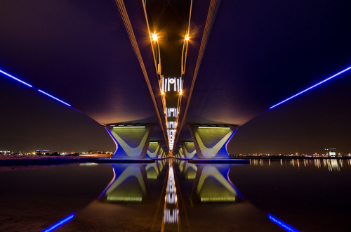 Al Garhoud bridge,Dubai by -Siep- on Flickr.