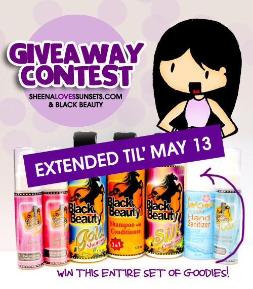 THE BLACK BEAUTY x SHEENA LOVES SUNSETS CONTEST IS EXTENDED FOR ANOTHER 7 DAYS! Join now by clicking here!