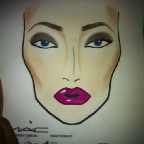My third attempt at a Face Chart. I'll get there. @jay_lush1  you inspired me today.