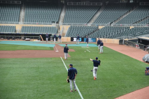 Practice time at Target Field as teams prepare for the Big Ten Tournament! Games begin tomorrow with No. 4 Minnesota vs. No. 5 Illinois at 12:05 p.m.