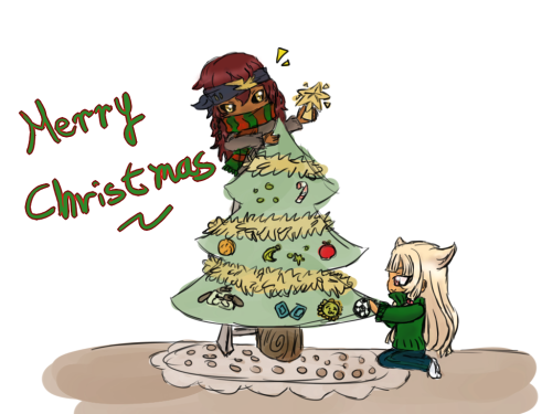 Woaaa Happy super-late Christmas ^o^;; I hope everybody has enjoyed these holidays so much! Eaten a lot and Santa-san given you so many presents This is a very fast doodle but I hope you like it ;v; (and I'm dying of cold to draw something better) I love drawing cuties of TCG hehe (and is my first time trying to draw Termina/Card (Even a fail chibi doodle) Also thanks for still follow this blog ;w; each new follower makes me SO HAPPY! THANKS YOU >3<!~  Edit: Waa I noticed that I changed Atari precious eyebrows orz… what a dumb I am)