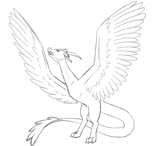 neffi:  A random dragon. I'll see if I finish this one someday.