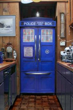 Police Box Fridge Kit Turns Any Refrigerator Into a TARDIS From 'Doctor Who' (laughing squid)