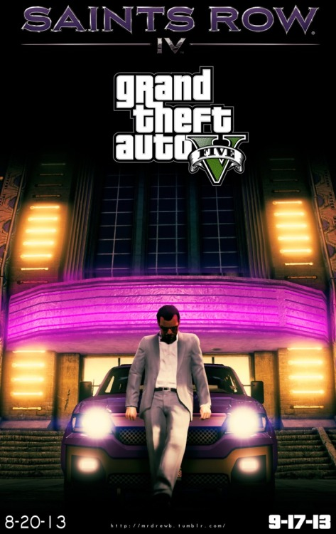 Saints row gta 5 poster (on facebook via piccsy.com)