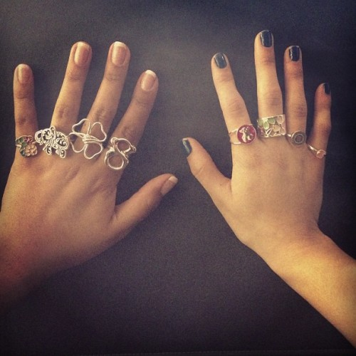 Love Tous rings #rings #silver #different #elephant #bear #clover #flower #color  #lovetouspics #tousjewelry #tousbocaraton #tous