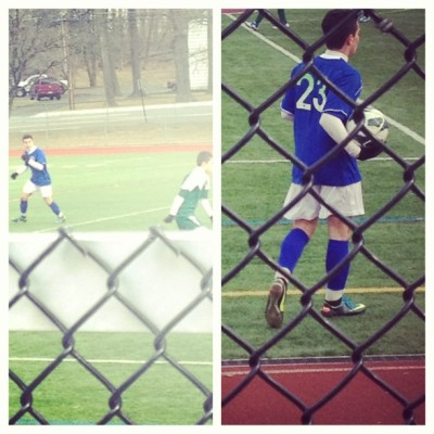 Honesty love this kid to death if I'm freezing my ass for him ! #soccer #game #brother #23 #blue #white #love #him #won @svalenciamadrid ⚽😙💙