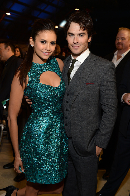 Nina Dobrev & Ian Somerhalder - Critics Choice Awards, January 10th 2013