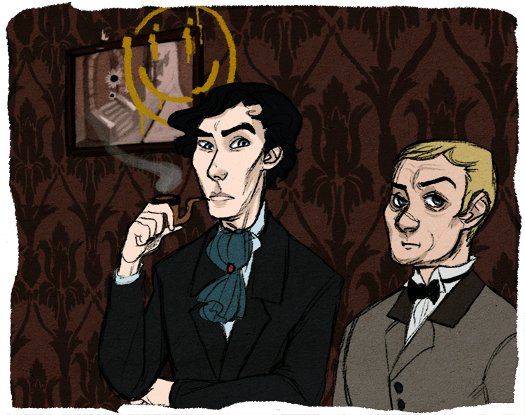 For the Let's Draw Sherlock project! c: ACD!Lock (???) idk, based on this post here.