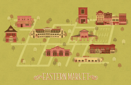 meredithmiotke:  Map of Eastern Market, Detroit