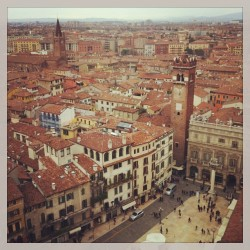 View from the highest point in #Verona. Best Euro I ever spent.