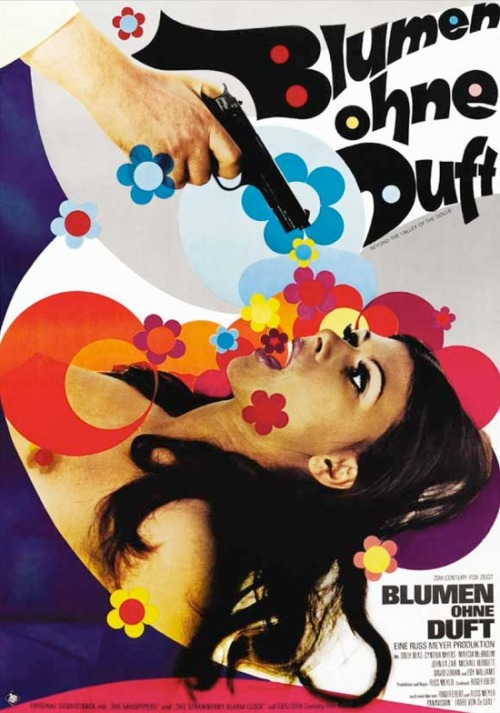 superseventies:  'Beyond the Valley of the Dolls' - 1970 German film poster  RIP Roger Ebert