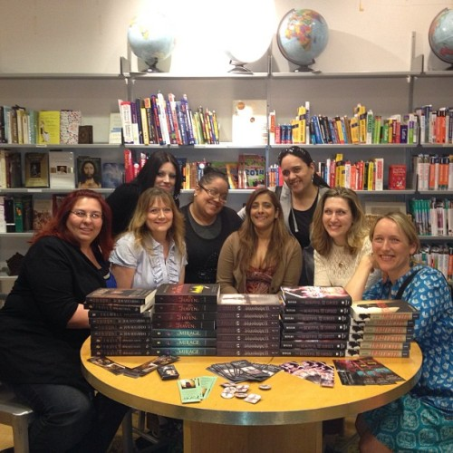 GCReading crew and the amazing authors!!!  (at Anderson's Book Shop)