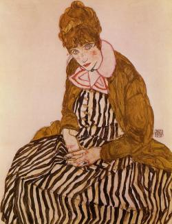 german-expressionists:  Egon Schiele, Edith Schiele, Seated, 1915