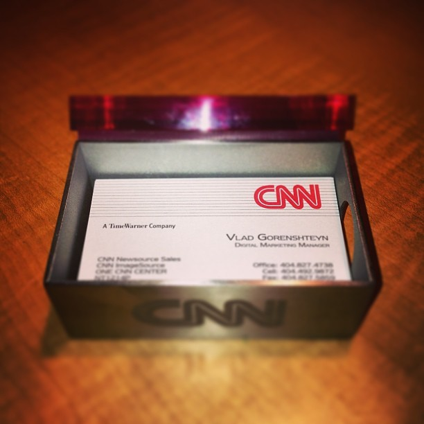 Finally got my @cnn bcards complete with custom #moma holder (at CNN Center)