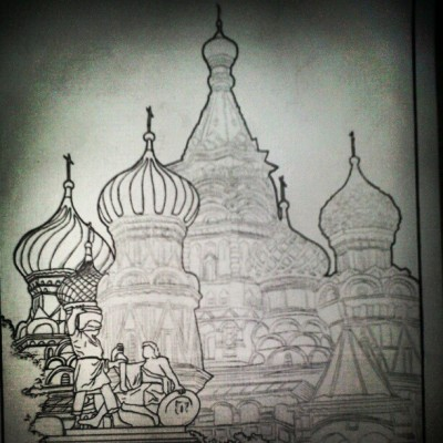 Not yet finish #drawing / #sketch. Of #saintbasil'scathedral  #blackandwhite #instadaily