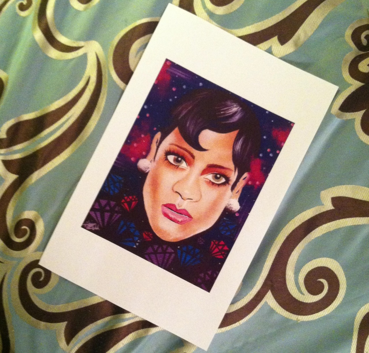 panic-paisley:  #Rihanna prints for sale at addart.bigcartel.com !   hand signed, numbered, and dated prior to ship!    #BlackArtistsNetwork  follow here !