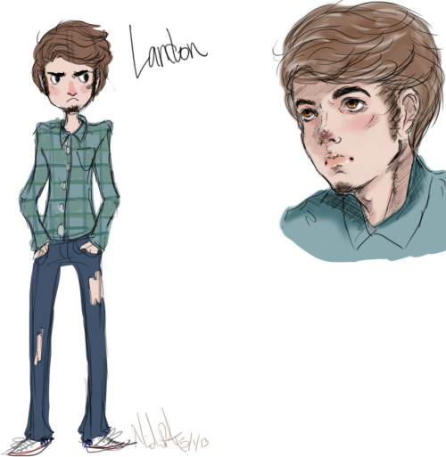 My OC Landon, ain't he cute??! Sooner or later I'll be making an animated series with some friends and he'll be one of the main characters.