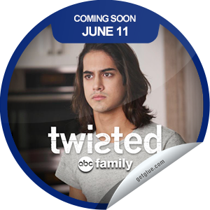 I just unlocked the Twisted Coming Soon sticker on GetGlue                      3933 others have also unlocked the Twisted Coming Soon sticker on GetGlue.com                  Don't miss the series premiere of Twisted Tuesday, June 11 at 9/8c on ABC Family! Check out some cool photos! Share this one proudly. It's from our friends at ABC Family.