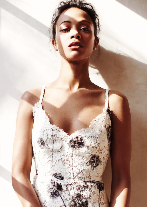 Zoe Saldana for C Magazine  I Love you Woman