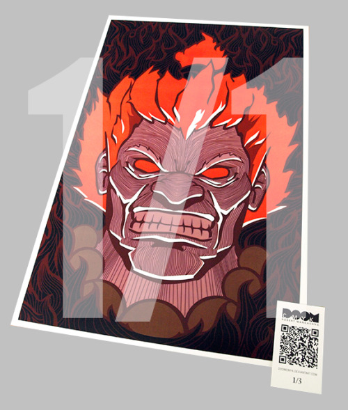 New! Akuma, Street Fighter 1 of 1 fan art: http://etsy.com/shop/DoomCMYK