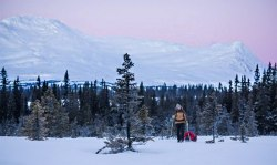 Fjällräven filming their new Singi jacket for A/W 2013 in Northern Sweden.