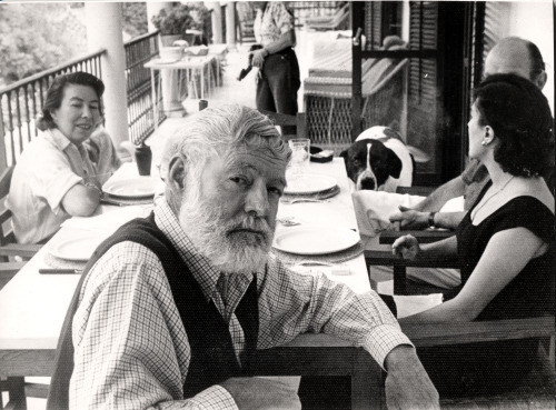 theparisreview:  Ernest Hemingway on his sixtieth birthday.
