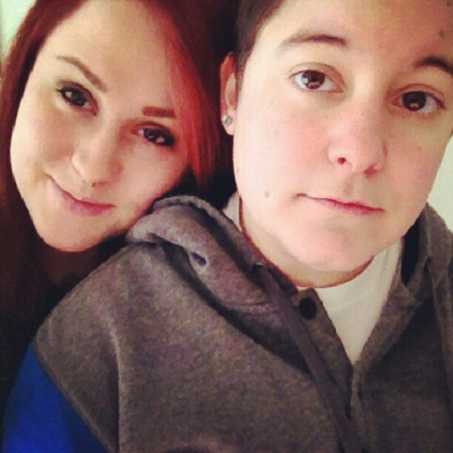 I love my boo boo <3 #girlfriend  #cute #adorable #lesbian #tattoos #piercings #ink