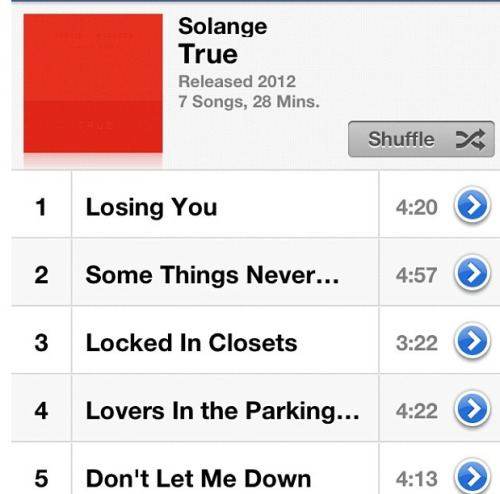 Playing Solange's True ep ..so ready to see her in concert tomorrow!! 🎶🎤