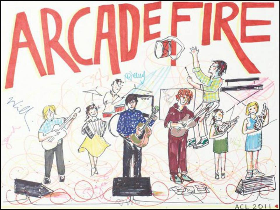 According to ArcadeFireTube, Regine drew this :)