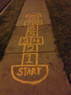 Hip-hop hop-scotch. Ya don't stop.