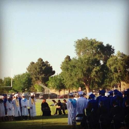 2013 Dexter High School graduates. #highschool #highered #highereducation  (at Dexter Demon Stadium)