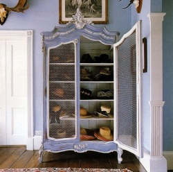 (via Haute Design by Sarah Klassen: Interior: Storing Hats)