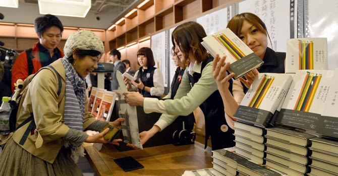 Since Haruki Murakami's latest novel came out in Japan, he's been selling over a million copies a week.