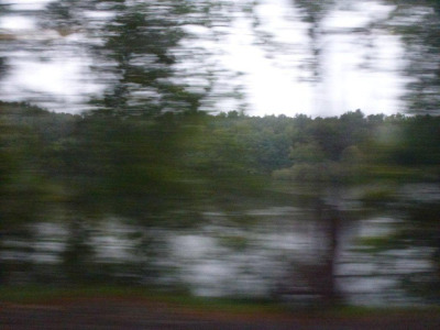 A train window in Upstate New York - Amy Mellen, Creative Director, Calvin Klein Home