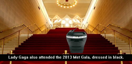 [Click image to enlarge] Lady Gaga at the 2013 Met Gala I know, I know… Madonna completely wowed the press and everybody else at the Met Gala this year with an incredibly rich and detailed PUNK ensemble (here).  Maybe that's why no one noticed that Lady Gaga too attended the event, dressed all in black, very discrete, a classic look for her.